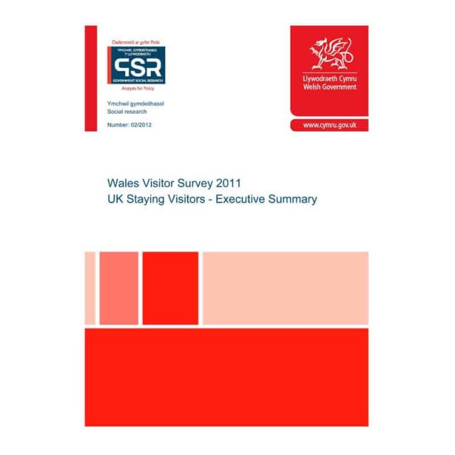 Wales Visitor Survey 2011 – UK Staying Visitors