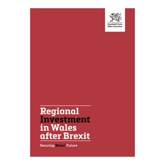 Regional investment in Wales after brexit