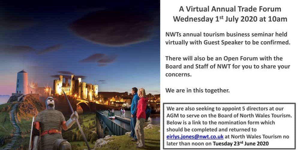 North Wales Tourism Annual Trade Meeting / Cyfarfod Masnach Blynyddol Twristiaeth Gogledd Cymru 2020